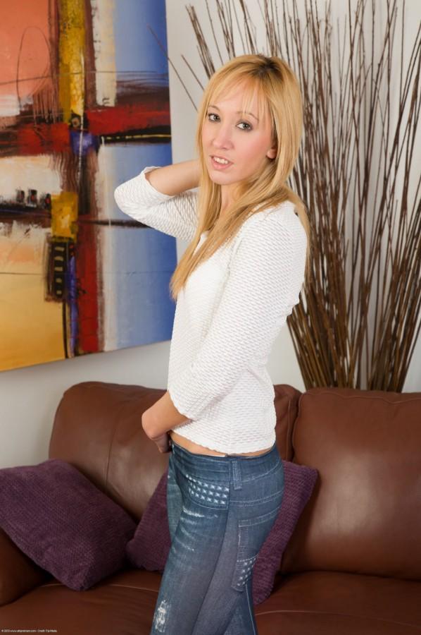 Eva Kay in Seethrough Jeans!